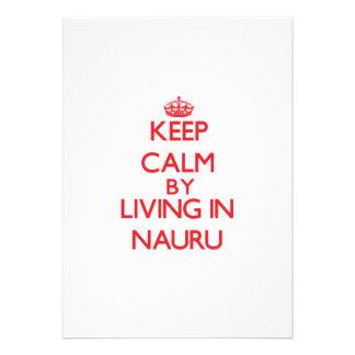 Keep Calm by living in Nauru Invitation