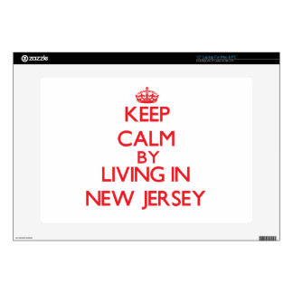 """Keep Calm by living in New Jersey 15"""" Laptop Decal"""