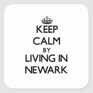 Keep Calm by Living in Newark Stickers