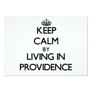 Keep Calm by Living in Providence 5x7 Paper Invitation Card