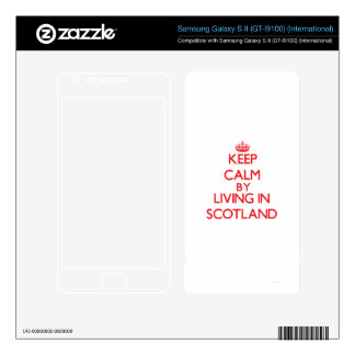 Keep Calm by living in Scotland Samsung Galaxy S II Skins