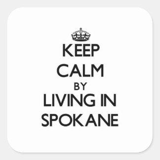 Keep Calm by Living in Spokane Sticker