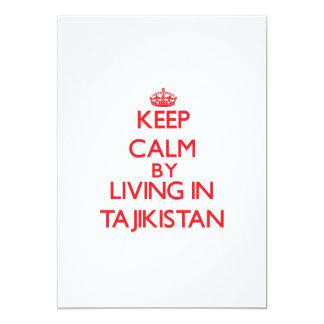 Keep Calm by living in Tajikistan 5x7 Paper Invitation Card