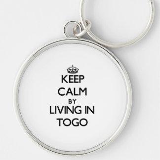 Keep Calm by Living in Togo Keychain