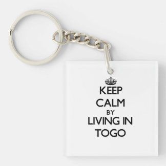 Keep Calm by Living in Togo Single-Sided Square Acrylic Keychain