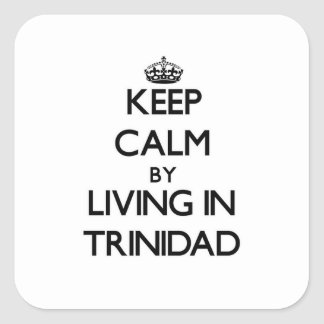 Keep Calm by Living in Trinidad Square Sticker