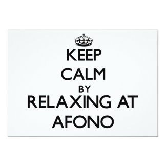 """Keep calm by relaxing at Afono Samoa 5"""" X 7"""" Invitation Card"""