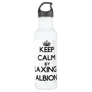Keep calm by relaxing at Albion Illinois 24oz Water Bottle