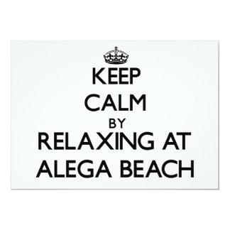 "Keep calm by relaxing at Alega Beach Samoa 5"" X 7"" Invitation Card"
