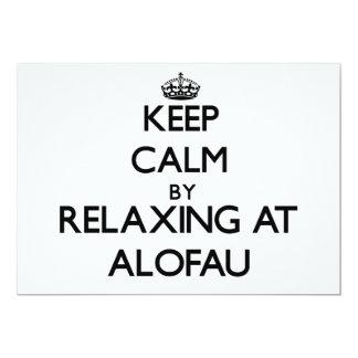 "Keep calm by relaxing at Alofau Samoa 5"" X 7"" Invitation Card"