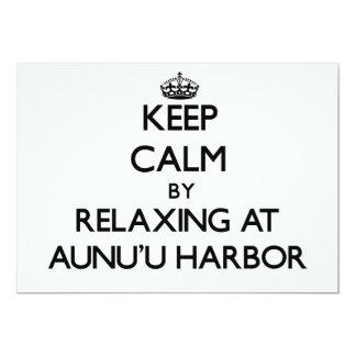 "Keep calm by relaxing at Aunu'U Harbor Samoa 5"" X 7"" Invitation Card"
