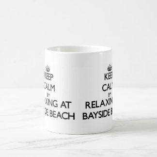 Keep calm by relaxing at Bayside Beach Maryland Mug