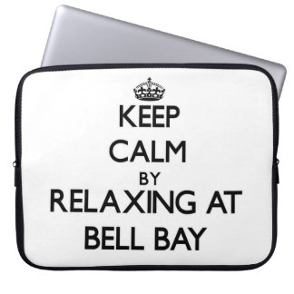 Keep calm by relaxing at Bell Bay Michigan Laptop Computer Sleeve