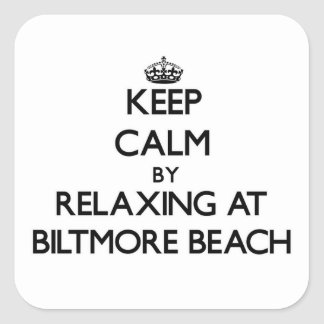 Keep calm by relaxing at Biltmore Beach Florida Sticker