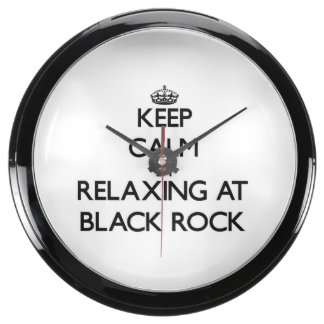 Keep calm by relaxing at Black Rock Massachusetts Aquavista Clocks