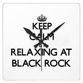 Keep calm by relaxing at Black Rock Massachusetts Clock