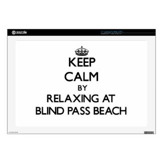 Keep calm by relaxing at Blind Pass Beach Florida Laptop Decals