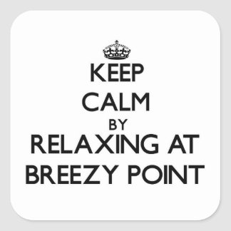 Keep calm by relaxing at Breezy Point Maryland Stickers