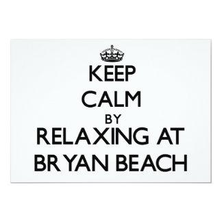 Keep calm by relaxing at Bryan Beach Texas 5x7 Paper Invitation Card