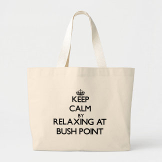 Keep calm by relaxing at Bush Point Washington Tote Bags