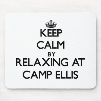 Keep calm by relaxing at Camp Ellis Maine Mouse Pad