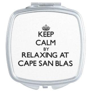 Keep calm by relaxing at Cape San Blas Florida Travel Mirror