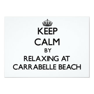 """Keep calm by relaxing at Carrabelle Beach Florida 5"""" X 7"""" Invitation Card"""