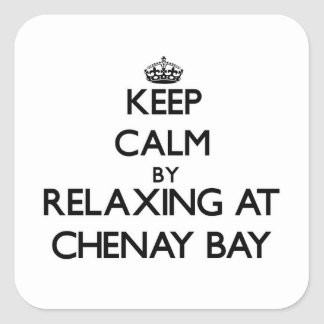 Keep calm by relaxing at Chenay Bay Virgin Islands Square Sticker