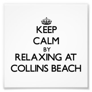 Keep calm by relaxing at Collins Beach Rhode Islan Photographic Print