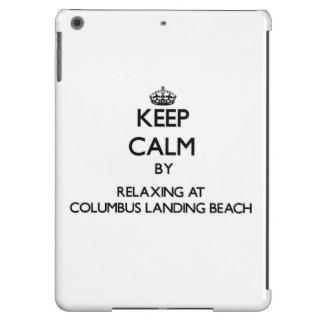 Keep calm by relaxing at Columbus Landing Beach Vi iPad Air Cases
