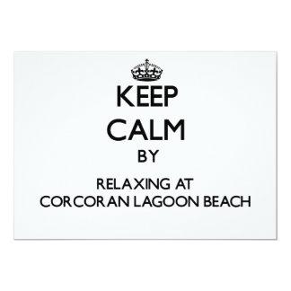 Keep calm by relaxing at Corcoran Lagoon Beach Cal Custom Invites