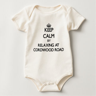 Keep calm by relaxing at Cordwood Road Massachuset Bodysuits