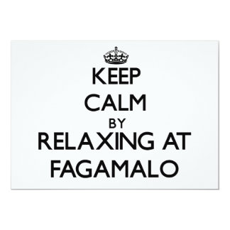 """Keep calm by relaxing at Fagamalo Samoa 5"""" X 7"""" Invitation Card"""