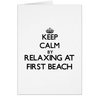 Keep calm by relaxing at First Beach Guam Greeting Cards