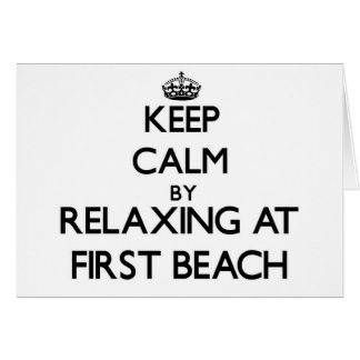 Keep calm by relaxing at First Beach Guam Greeting Card