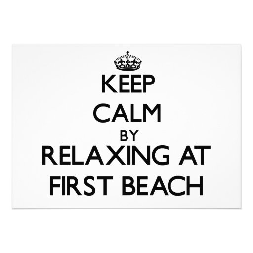 Keep calm by relaxing at First Beach Guam Invitation