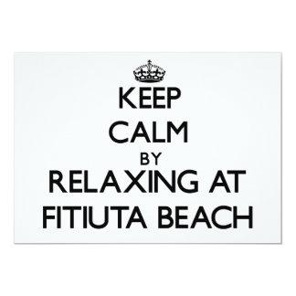 "Keep calm by relaxing at Fitiuta Beach Samoa 5"" X 7"" Invitation Card"