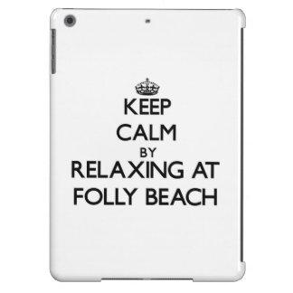 Keep calm by relaxing at Folly Beach South Carolin Cover For iPad Air