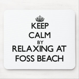 Keep calm by relaxing at Foss Beach New Hampshire Mousepads