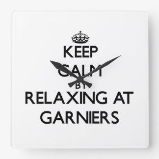 Keep calm by relaxing at Garniers Florida Square Wall Clock