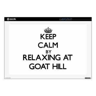 "Keep calm by relaxing at Goat Hill Massachusetts Decals For 17"" Laptops"