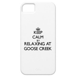 Keep calm by relaxing at Goose Creek New York iPhone 5 Cover