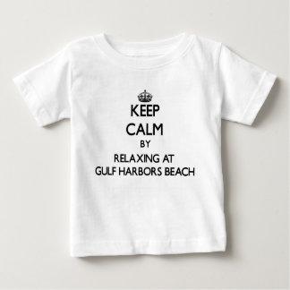 Keep calm by relaxing at Gulf Harbors Beach Florid T Shirt