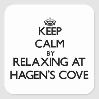Keep calm by relaxing at Hagen S Cove Florida Square Sticker
