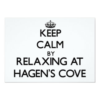 Keep calm by relaxing at Hagen'S Cove Florida 5x7 Paper Invitation Card