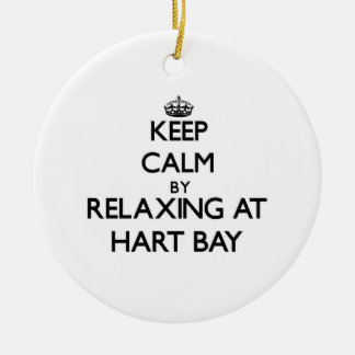 Keep calm by relaxing at Hart Bay Virgin Islands Ornament