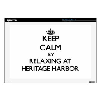 "Keep calm by relaxing at Heritage Harbor Californi Skin For 17"" Laptop"