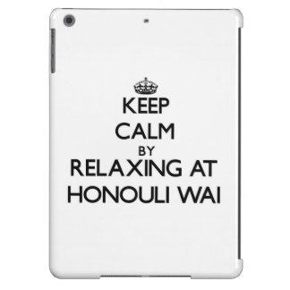 Keep calm by relaxing at Honouli Wai Hawaii iPad Air Case