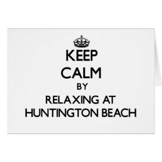 Keep calm by relaxing at Huntington Beach Virginia Stationery Note Card