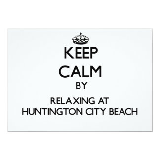 Keep calm by relaxing at Huntington City Beach Cal Personalized Announcement